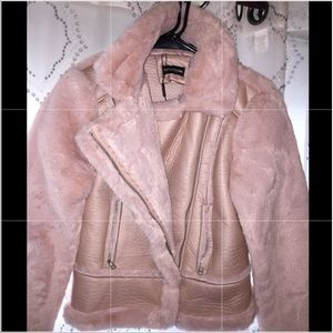 PRETTY LITTLE THING faux fur Pink Sherling
